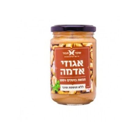 חמאת בוטנים טבעית ללא תוספת סוכר - 300 גרם שקד תבור