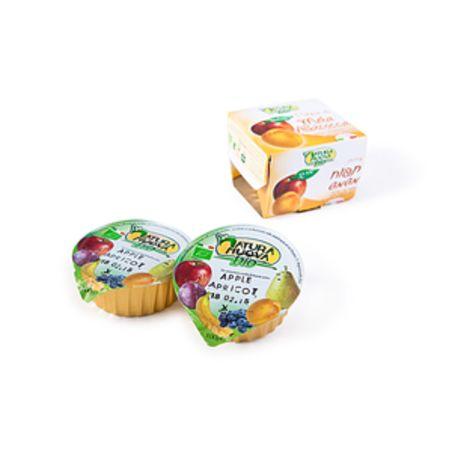 מחית תפוח משמש אורגני ללא תוספת סוכר - 200 גרם