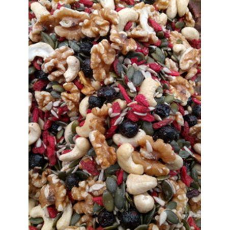 מיקס בריאות אגוזים זרעים וגוג'י ברי