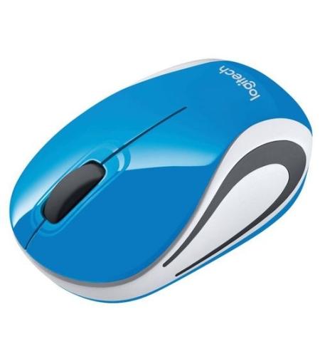 עכבר אלחוטי Logitech Mini M187 Retail - צבע כחול