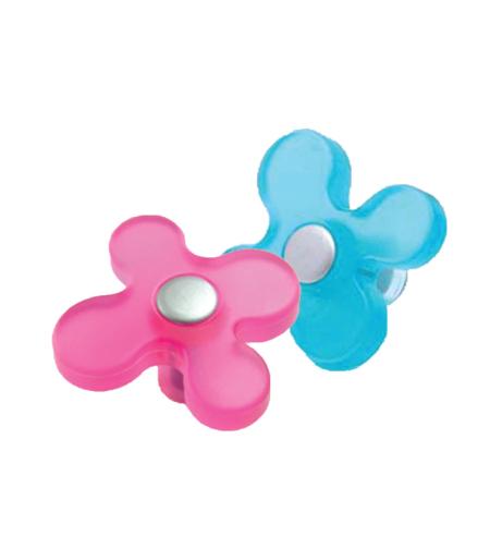 ידית כפתור פרח לחדר ילדים