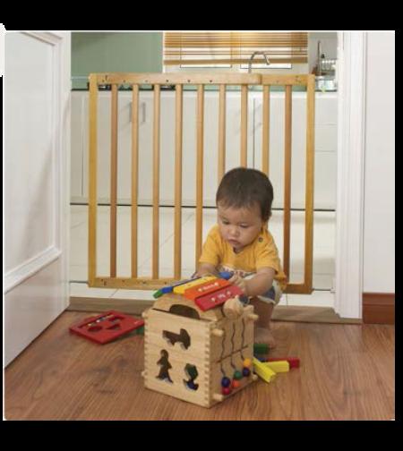 שער בטיחות לילדים מעץ